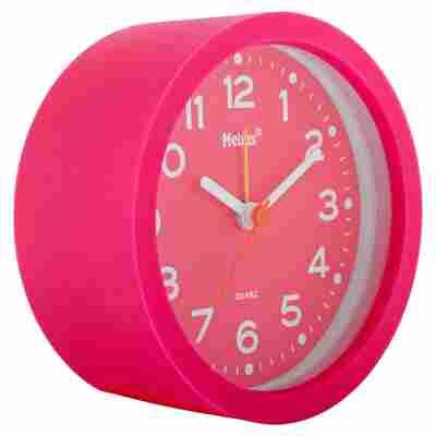 Quarzwecker Silikon rund pink