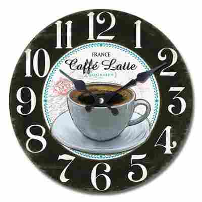 Quarz-Wanduhr 'Caffé Latte' Ø 34 cm