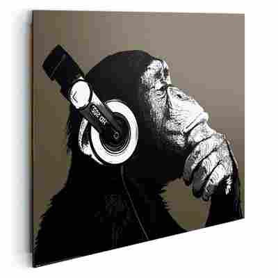 Deco Panel Schimpanse mit Kopfhörer