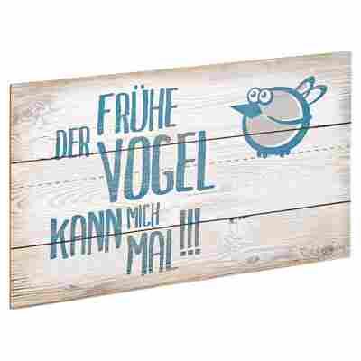 """Decopanel """"Der frühe Vogel"""" 27 x 15 cm"""