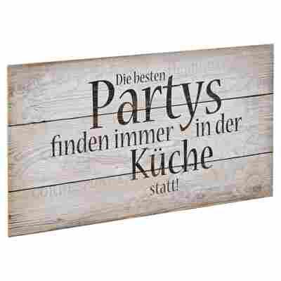 """Decopanel """"Die besten Partys"""" 30 x 15 cm"""