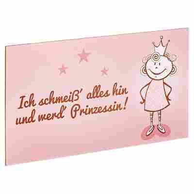 """Decopanel """"Ich werd' Prinzessin"""" 27 x 15 cm"""