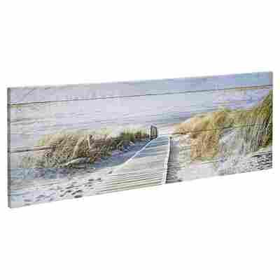 """Leinwandbild Canvas """"Seeblick 3"""" 27 x 77 cm"""