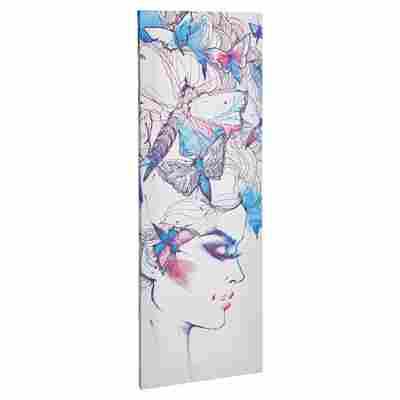 """Leinwandbild Canvas """"Colourful Face"""" 27 x 77 cm"""
