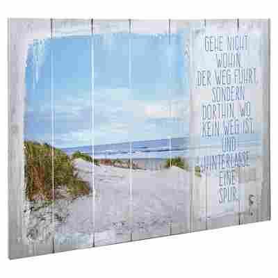 "Leinwandbild Canvas ""Der Weg"" 80 x 60 cm"