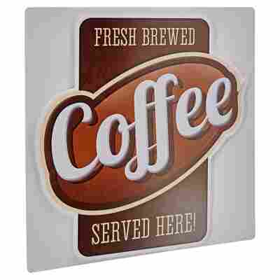 """Decopanel """"Coffee served here"""" Cut-Out 50 x 50 cm"""