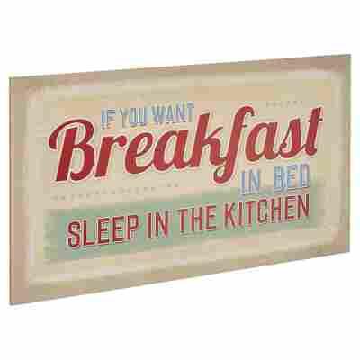 "Decopanel ""If you want breakfast in bed"" 27 x 15 cm"