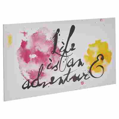 "Decopanel ""Life is an adventure"" 27 x 15 cm"