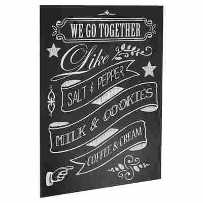 "Decopanel ""We go together"" schwarz 30 x 40 cm"