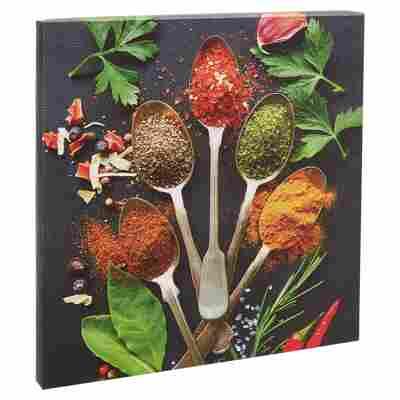 "Leinwandbild Canvas ""Vintage Herbage II"" 27 x 27 cm"