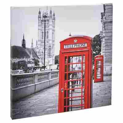 """Leinwandbild Canvas """"Telefon"""" 27 x 27 cm"""