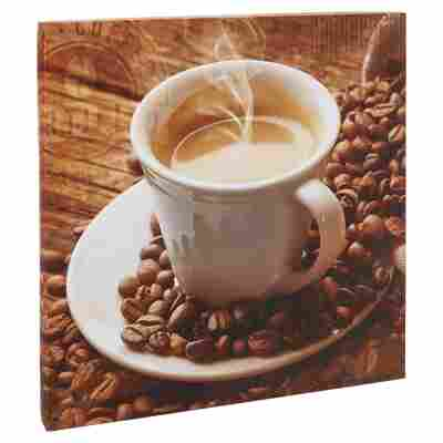 "Leinwandbild Canvas ""Coffee Warm-Up I"" 27 x 27 cm"