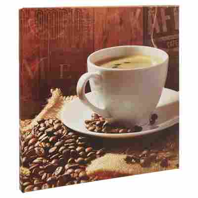 "Leinwandbild Canvas ""Coffee Warm-Up II"" 27 x 27 cm"