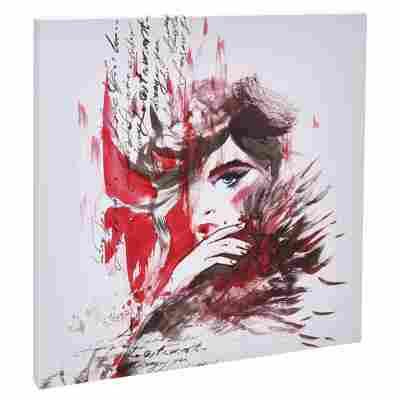 "Leinwandbild Canvas ""Red Woman"" 27 x 27 cm"