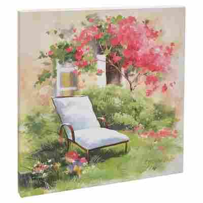 """Leinwandbild Canvas """"Country Cottage I"""" 27 x 27 cm"""