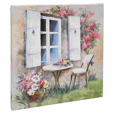 "Leinwandbild Canvas ""Country Cottage II"" 27 x 27 cm"