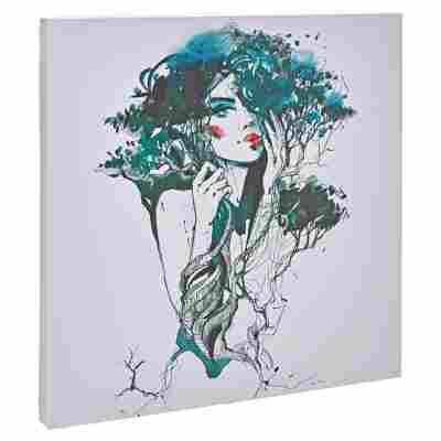 "Leinwandbild Canvas ""Blue Woman"" 27 x 27 cm"