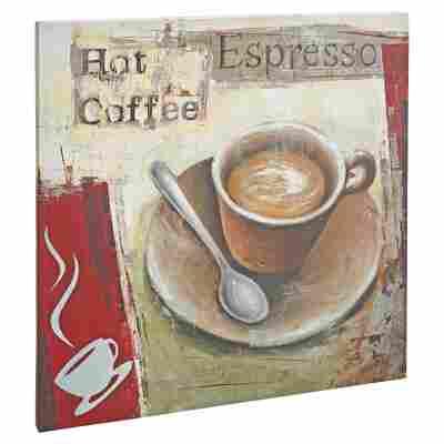 "Leinwandbild Canvas ""Coffee"" 40 x 40 cm"