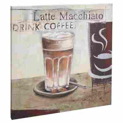 "Leinwandbild Canvas ""Drink Coffee"" 40 x 40 cm"