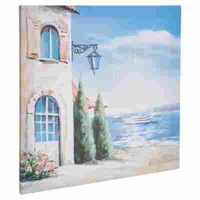"Leinwandbild Canvas ""Blue Lake"" 50 x 50 cm"