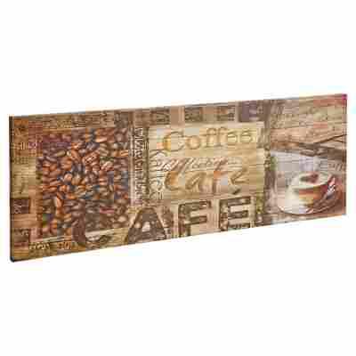 """Leinwandbild Canvas """"Coffeetime"""" 77 x 27 cm"""