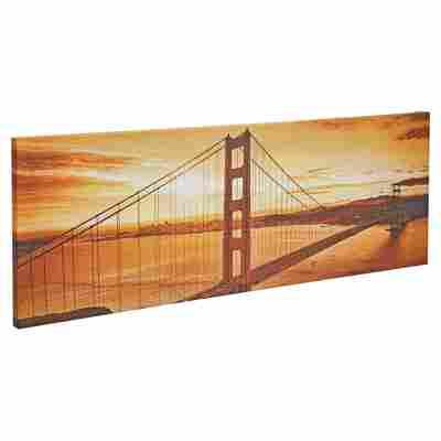 """Leinwandbild Canvas """"San Francisco"""" 77 x 27 cm"""