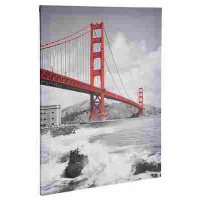 "Leinwandbild Canvas ""Golden Gate Bridge"" 57 x 77 cm"