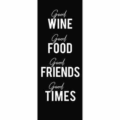 Canvas-Art 'Good Wine', 30 x 80 cm