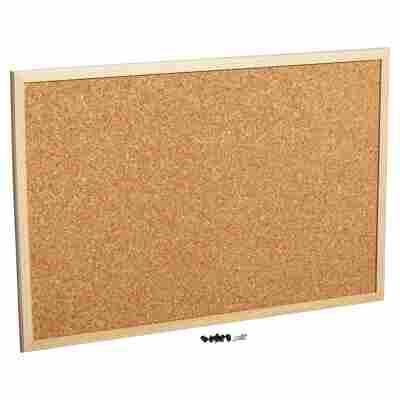 Pinnwand Holz Kork 60 x 40 cm
