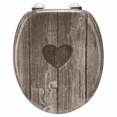 WC-Sitz 'Herz', lackiert