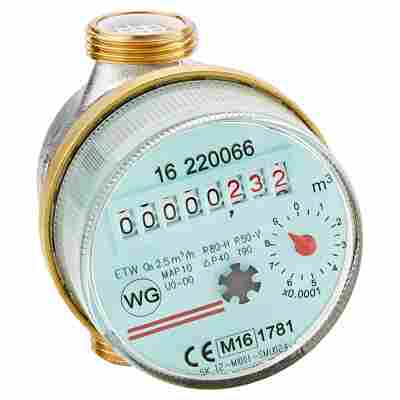 """Warmwasserzähler QN 1,5 12,7 mm (1/2"""")"""