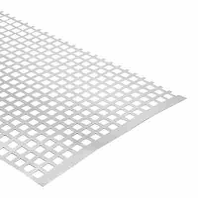 Quadratlochblech Aluminium 100 x 20 cm