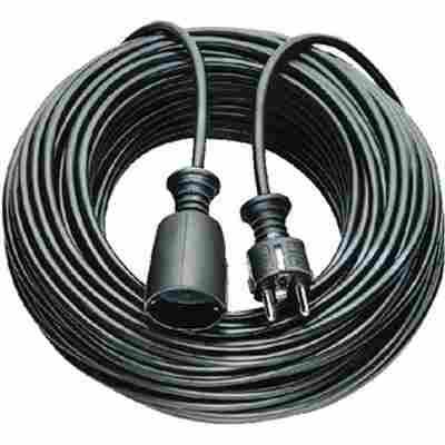 Kunststoff-Verlängerung mit Schutzkontakt-Stecker 10 m schwarz