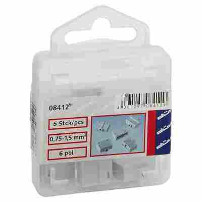 Dosenklemmen 6-polig 0,75 - 1,5 mm² 5 Stück