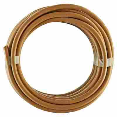 Schlauchleitung 'H03 VV-F' golden, 2 x 0,75 mm², 3-adrig, 5 m
