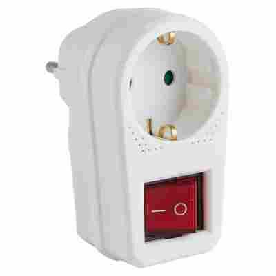 Schutzkontakt Adaptertecker mit Schalter