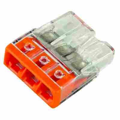 WAGO-Klemme kompakt 3-polig weiß 25 Stück