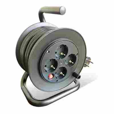 Kabeltrommel H05VV-F 3G 1,5 mm² schwarz 15 m