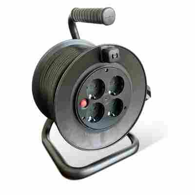 Kabeltrommel H05VV-F 3G 1,5 mm² schwarz 25 m
