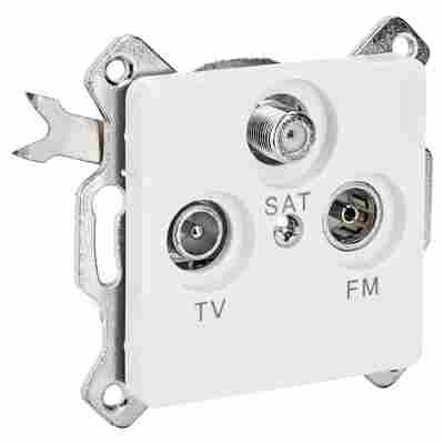 SAT-Antennensteckdose weiß