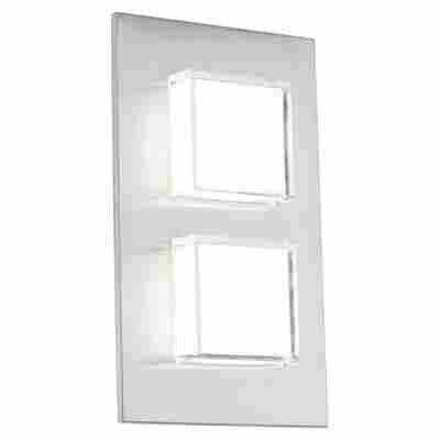 LED-Außen-Wandleuchte 'Pias' Edelstahl, 2-flammig