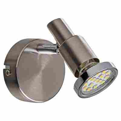 LED-Strahler 'Alexa' nickelfarben matt 3 W 1-flammig