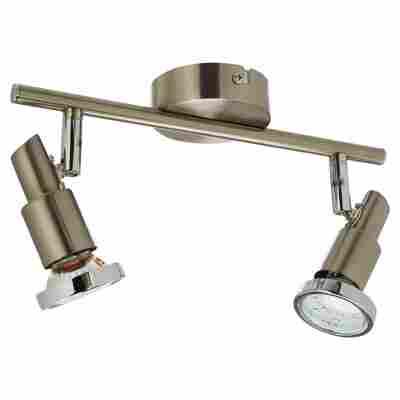 LED-Strahler nickelfarben matt 3 W 27,5 x 11,8 cm 2-flammig