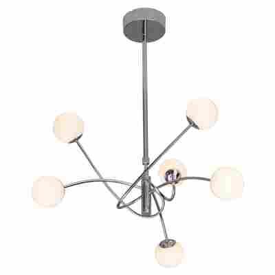 LED-Pendelleuchte 'Mirella' Chrom, 6-flammig