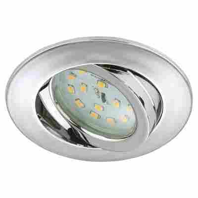 LED-Einbauleuchte 1-flammig Chromfarben Rund