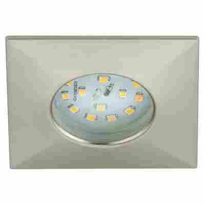 LED-Einbauleuchte 5 W 7,5 x 7,5 cm silbern