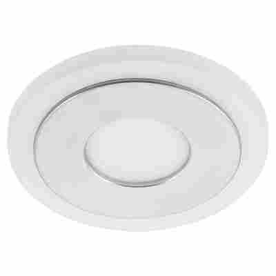 LED-Einbauleuchte Kunststoff/Metall 1-flammig Ø 95 mm 7 W aluminiumfarben