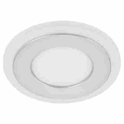 LED-Einbauleuchte Kunststoff/Metall 1-flammig Ø 120 mm 12 W aluminiumfarben