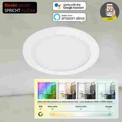 LED-Einbauleuchte 'Virgo' weiß 1200 lm