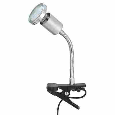 LED-Klemmleuchte chromfarben 5,5 x 22 cm